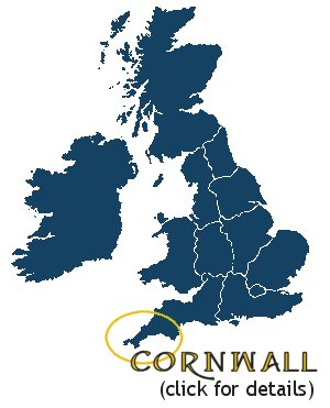 Map of Cornwall UK